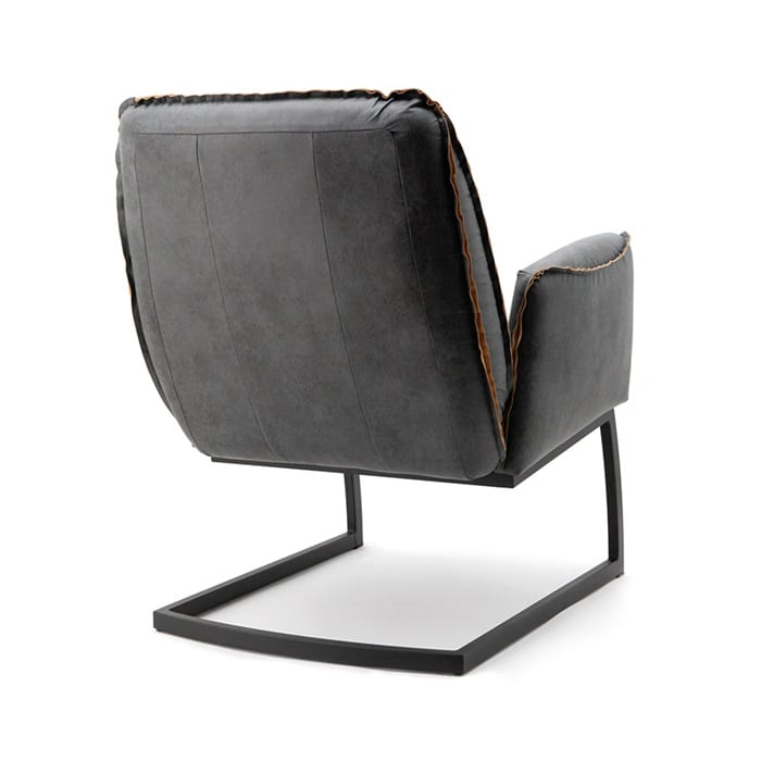 Fauteuil Stof Antraciet.Eleonora Nelson Fauteuil Antraciet Stof Yels Nl